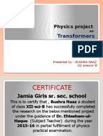 project on transformers