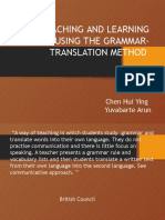 1. Grammar-Translation Method