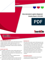 China Automated Logistics Equipment Industry Report, 2016-2020