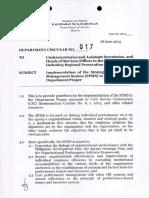 Department Circular 017, s. 2014