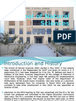 School of Natural Sciences _ Introduction (23!04!2015)