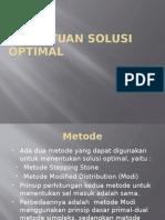 9. Penentuan Solusi Optimal