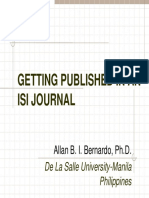 Getting Published in Isi Journal