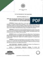 Executive Order No. 201, s. 2016