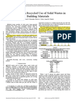 A Review on Recycled Use of Solid Wastes in Building Materials