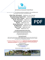 Advertisement Job Maldives 19.02.16