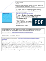 Primary English Language Education Policy in Vietnam