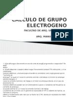Calculo de Grupo Electrogeno