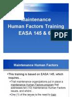 EASA 145 & 66 Human factor Training