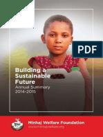 Annual Summary Report 2015 - Minhaj Welfare Foundation