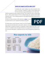 India's basmati rice export to US to take a hit?
