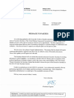 Christiana Figueres resignation letter