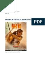Female activism in Hindi cinema