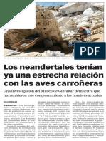 160219 La Verdad CG- Los Neandertales Tenían Ya Una Estrecha Relación Con Las Aves Carroñeras p.9