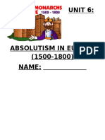 absolutism packet 2015