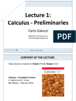 Lecture 01 Preliminaries and Trascendental Functions