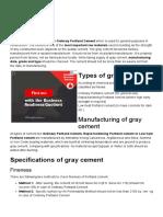 Gray Cement _ Gray Portland Cement _ Gray Cement types - Ordinary, Low heat & Rapid hardening portland cement - GharExpert.pdf
