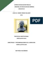 DIR LMVS 007 2016 Protocolo Institucional 2016