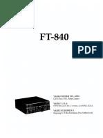 Yeasu Ft-840 Tech Supplement