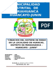 Proyecto de Inversión Pública para un sistema de Riego Huancas
