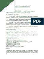 Resumen Certamen 1 - Econometria