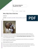 What, Why & How of Zika Virus note