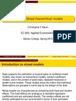Multilevel models slides