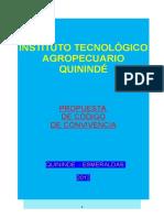 Codigo de Covivencia i.t.a.q. 2012