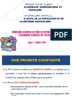 Calendrier National de Vaccination 2015