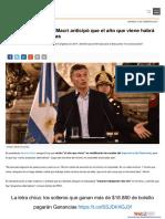 Ganancias - Macri