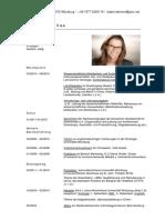 CV Isabel Dettmer