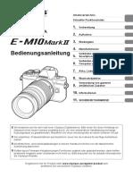 E-M10 Mark II Manual (German)