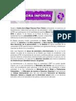 BCLH 2016 - Pronunciamiento CMP Flora Tristán