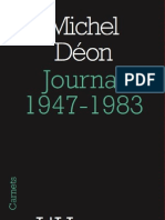 Journal 1947-1983, de Michel Déon