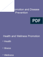 Health Promotion and Disease Prevention