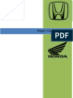 Supply Chain Management Principles and Practices at Honda