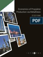 Economics of Propylene Production via Metathesis