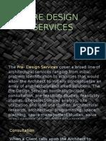 Pre Design Services