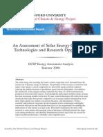 Solar Assessment