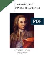 Bach, Sonate pour viole de Gambe no.1