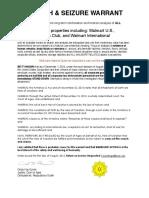 Walmart Search & Seizure Warrant
