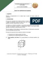 Laboratorio de Compresion de Maderas PDF