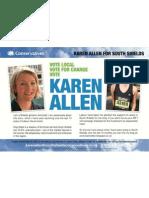 Karen Allen, Conservative