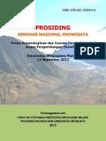 Peran Kepemimpinan dan Inovasi dalam Pengembangan Kewirausahaan Ekowisata Berbasis Penduduk Lokal.  Prosiding Seminar Nasional Ekowisata