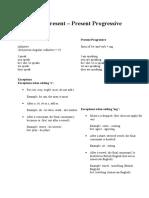 Present Simple vs Present Progressive