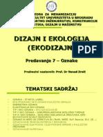 Ekodizajn Predavanje 6.2 - Oznake