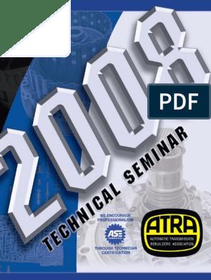2008 ATRA Seminar Manual   Manual Transmission   Transmission