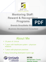 Mentoring Staff Reward Recognition Ppt