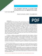Ansaldi Villaruel - Quiera y Sepa El Pueblo Votar