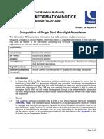 SSDR Information Notice
